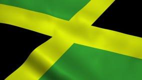 现实牙买加旗子 免版税库存照片