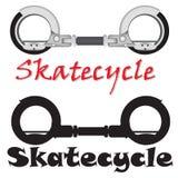 现实现代Skatecycle传染媒介对象 免版税库存图片