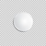 现实白色徽章 免版税库存图片