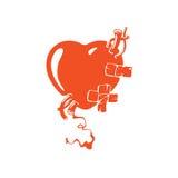 现实红色心脏 库存图片