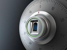 现实组合保险柜锁 黑色背景 3d例证 皇族释放例证