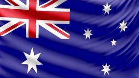 现实美丽的澳大利亚旗子4k 皇族释放例证