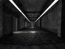 现实老隧道或科学膝部 库存例证