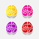 现实设计元素:脑子 库存图片