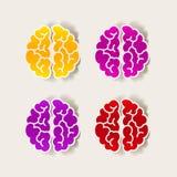 现实设计元素:脑子 免版税库存照片