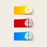 现实设计元素:脑子 免版税图库摄影