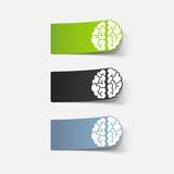 现实设计元素:脑子 图库摄影