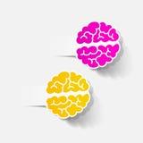 现实设计元素:脑子 免版税库存图片
