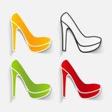 现实设计元素:鞋子 免版税库存照片