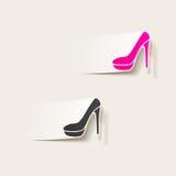 现实设计元素:鞋子 库存图片