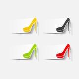 现实设计元素:鞋子 免版税库存图片