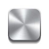 现实金属按钮 免版税库存图片
