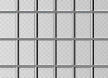 现实金属监狱格栅 隔绝在透明背景 Thuster机器,铁监狱牢房 金属产品 皇族释放例证