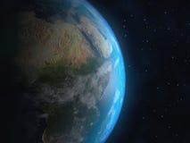 现实3D地球地球 美国航空航天局装备的这个图象的元素 库存图片