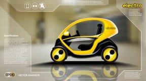 现实3d电车infographic概念 数字式传染媒介与象的电车海报 电子商务事务 皇族释放例证