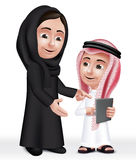 现实3D阿拉伯老师妇女字符 免版税库存照片