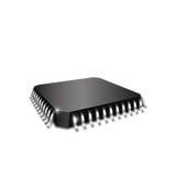 现实3d cpu芯片组 向量例证