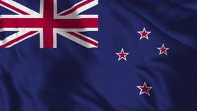 现实4K -挥动在风的澳大利亚的30 fps旗子 向量例证