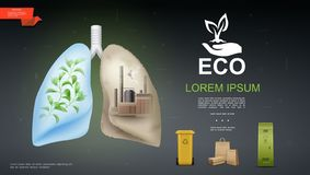 现实Eco和自然模板 向量例证