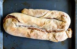 现成的自创苹果果馅奶酪卷,饼, Burek 免版税库存照片