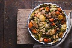 现成的kasul用猪肉和羊羔和菜 库存图片