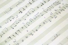 现有量书面的音乐评分 免版税库存图片