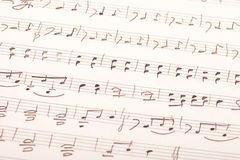 现有量书面的音乐评分 库存图片