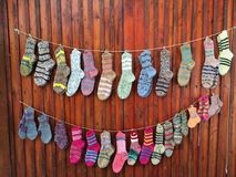 现有量做袜子 免版税库存图片