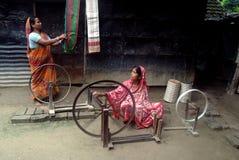现有量印度行业织布机 库存照片