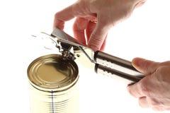 现有量和能与开罐头用具 库存图片