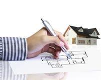 现有量图画房子 免版税库存照片