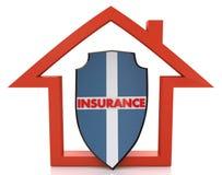 现有量在小的白色的房子保险 免版税库存图片