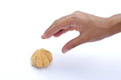 现有量审判妇女的松饼挑库 库存图片