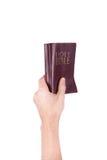 现有量拿着圣经 免版税图库摄影