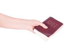 现有量拿着圣经 免版税库存照片
