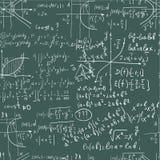现有量文字在无缝的黑板的算术配方 库存例证