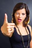 现有量查出的好的符号白人妇女 免版税图库摄影