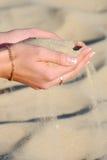 现有量沙子妇女 免版税库存照片