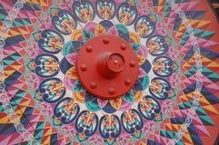 现有量油漆木头轮子 免版税库存照片