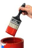 现有量油漆红色 免版税库存照片