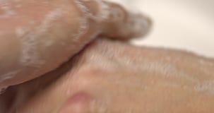 现有量用肥皂擦洗洗涤 影视素材