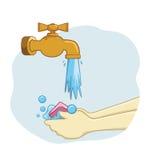 现有量用肥皂擦洗洗涤 免版税库存图片
