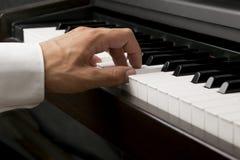 现有量男钢琴 免版税库存图片