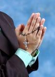 现有量祈祷 图库摄影