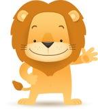 现有量突出lino的狮子挥动 向量例证