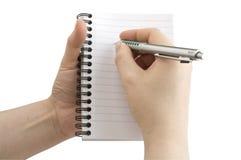现有量笔记本笔 库存图片