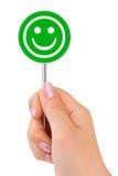 现有量符号微笑 免版税库存照片