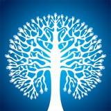 现有量结构树在蓝色背景中 免版税图库摄影