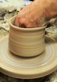 现有量罐陶瓷工 免版税库存照片