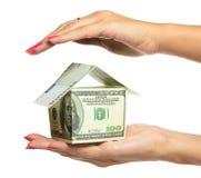 现有量藏品房子妇女 免版税库存照片